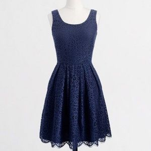 J crew factory lace dress navy swirling 2